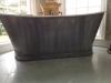 faux aged zinc bathtub
