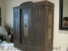 Rustic armoire hand painted