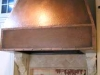 faux  hammered copper  kitchen vent