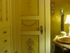 powder room door and walls
