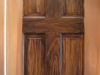 partial woodgraining of door