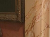 detail of breccia faux marble door trim