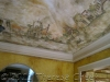 venice grand canal mural on ceiling of dining room