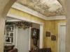 detail of plastered walls and ceiling mural of Venice