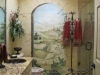 Tuscan mural in guest bath