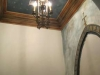 ceiling and wall in powder room