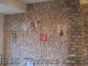 rustic faux brick wall