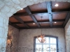 Crocodile panels in coffered ceiling